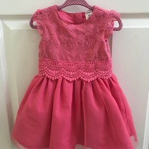 Carter's Coral lace and Tulle Dress Size 12M